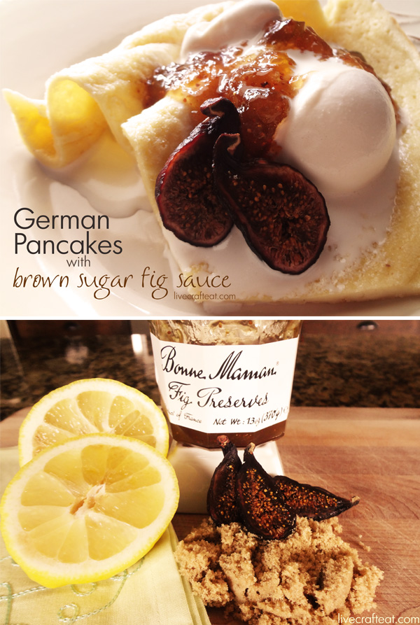 Recipe for Brown Sugar Fig Sauce using Bonne Maman Fig Preserves served over ice cream and pancakes - I guess pancakes are not just for breakfast anymore!!
