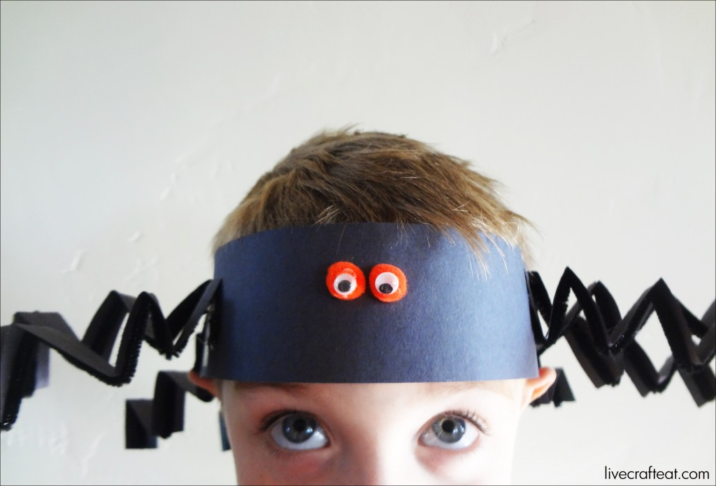 easy spider hats for kids