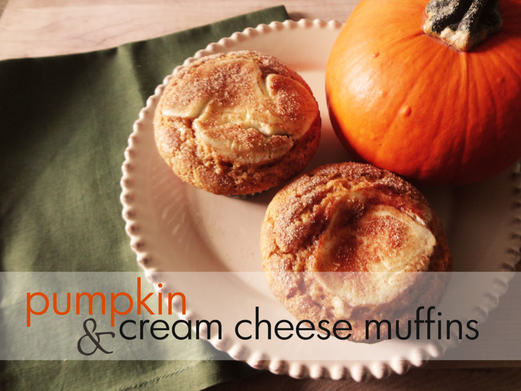 pumpkin and cream cheese muffin recipe