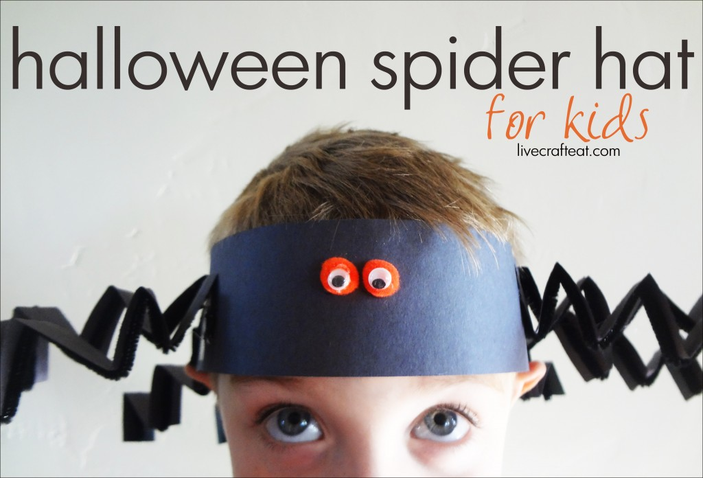 halloween spider hat halloween craft for kids - Halloween Spider Craft Ideas