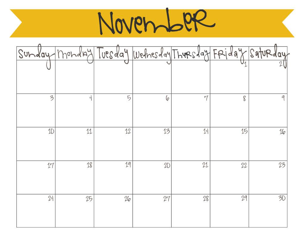 free printable calendars! :: november 2013