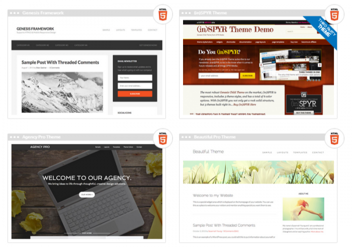 StudioPress premium WP themes.
