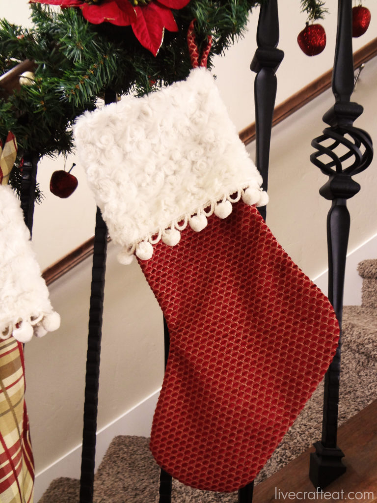 make it yourself :: christmas stockings - an easy way to make beautiful stockings for your home