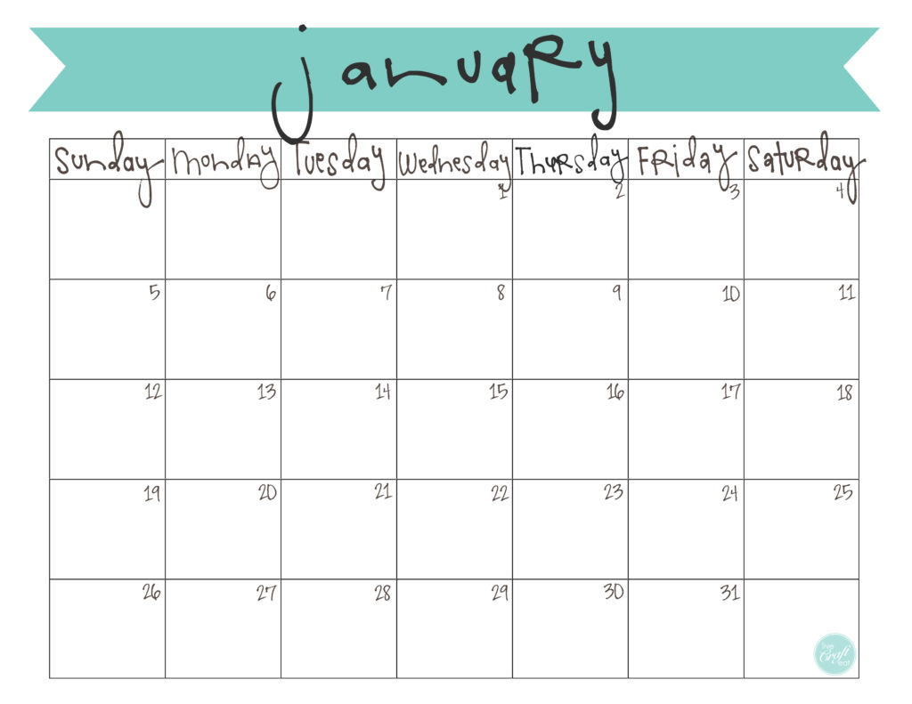 free printable january 2014 monthly calendar