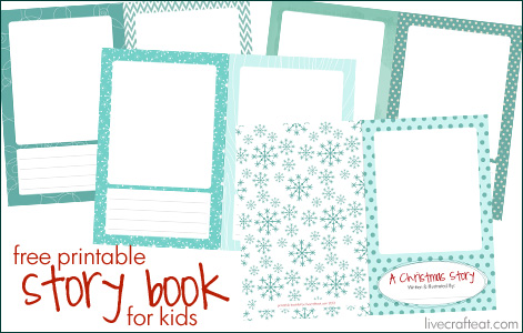 free printable christmas storybook for kids - they do the authoring and illustrating! it's so much fun to see what stories they come up with and what they adore about christmastime!