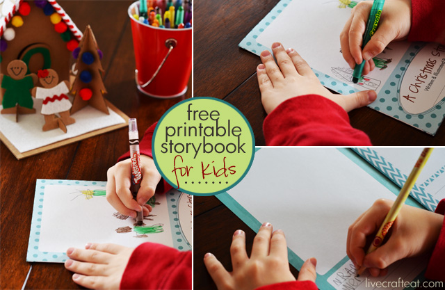free printable holiday storybook for kids (they author & illustrate their own story!)