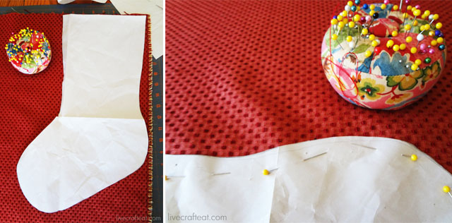 how to make your own fabric christmas stockings.