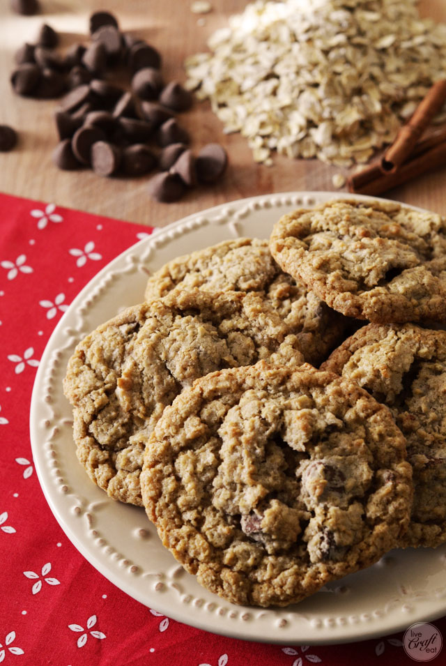 easy recipe for oatmeal chocolate chip cookies