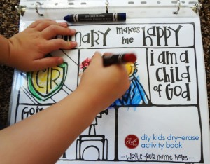 diy kids dry-erase book