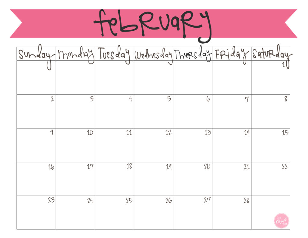 photograph about Printable Calendar February titled February 2014 Calendar - Absolutely free Printable Are living Craft Consume