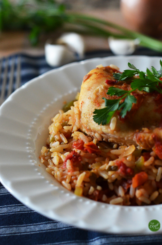 a super yummy recipe for oven-fried chicken & rice...and pretty simple to make, too!