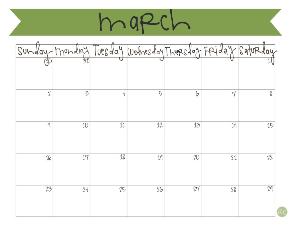 image regarding Calendar March Printable called March 2014 Calendar - No cost Printable Stay Craft Try to eat