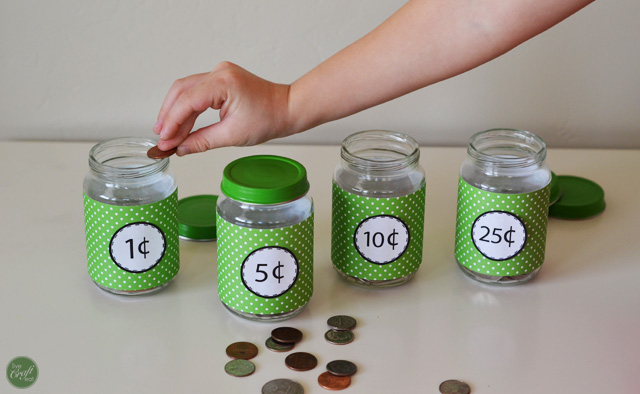 "money-sorting activity - part of ""3 activities to help teach your kids about financial responsibility."