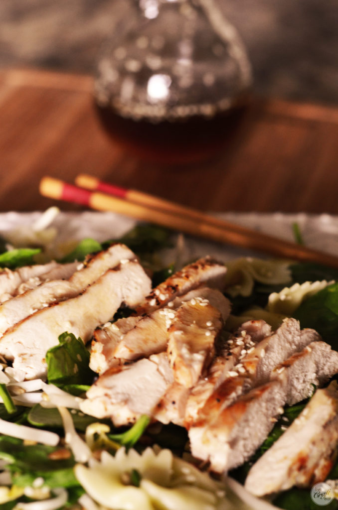 this is the best asian chicken salad. so, so, good!! the homemade dressing is amazing!