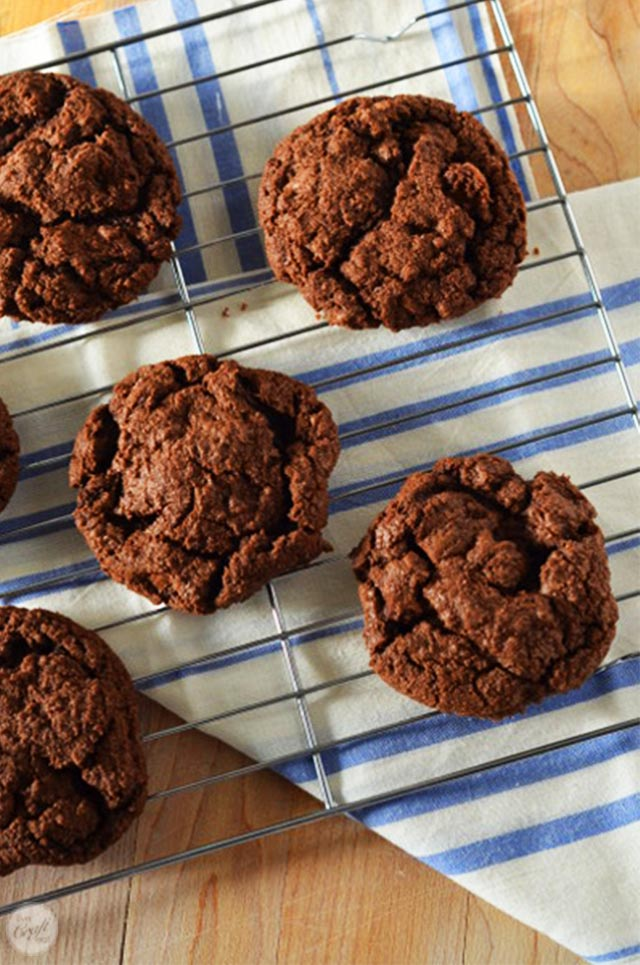 amazing double chocolate cookie recipe! best cookies ever.