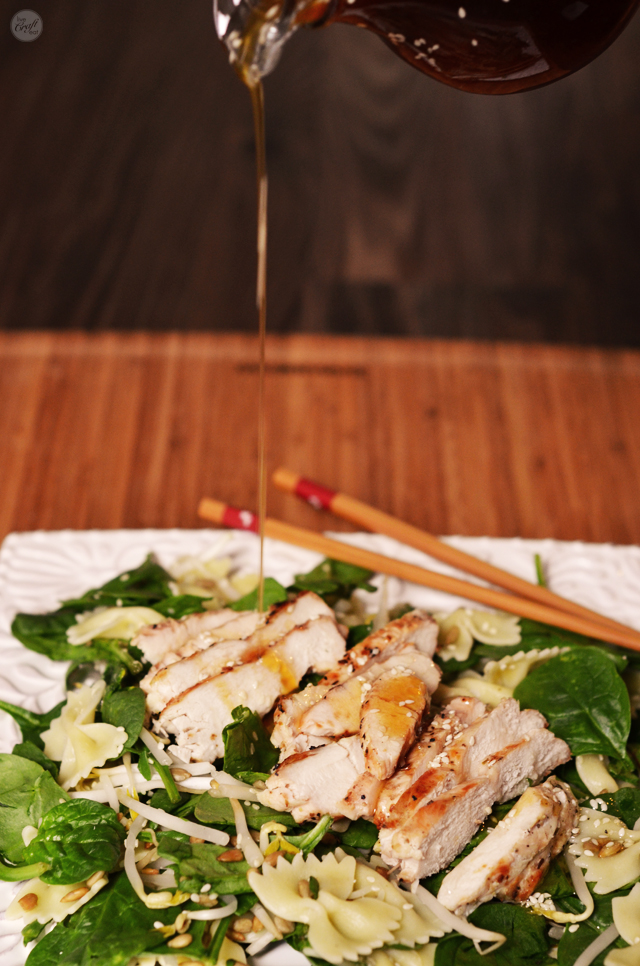 my favorite chicken pasta salad :: asian chicken salad with sesame dressing. the dressing is so awesome!