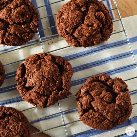 amazing double chocolate cookies.