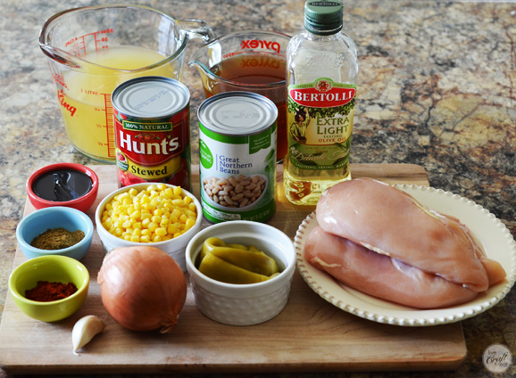 ingredients for amazing chicken tortilla soup