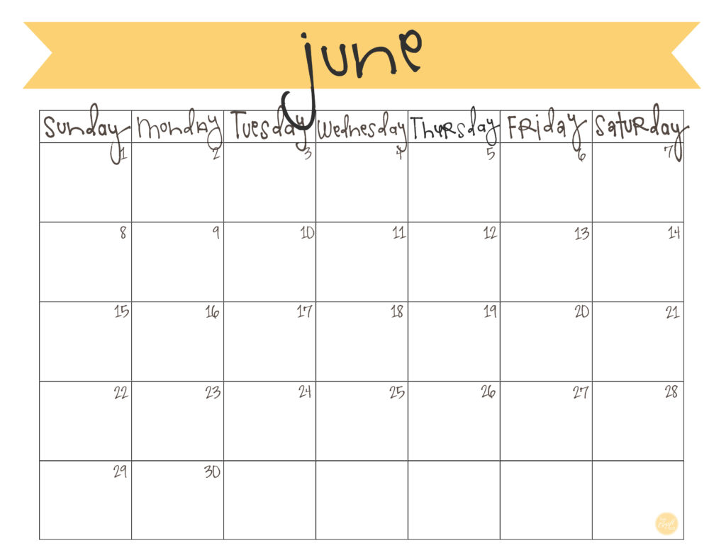 photo about Free Printable June Calendar identified as June 2014 Calendar - Absolutely free Printable Are living Craft Consume