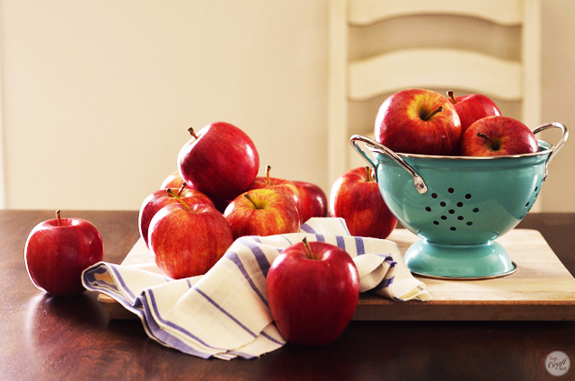 "red apples - perfect for homemade ""pink"" applesauce"