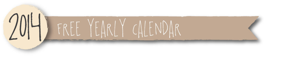 2014 free yearly calendars