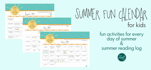 Summer Activities For Kids - Planner, Bucket List, Reading Log | LCE