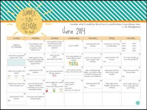 june summer calendar for kids :: free printable!