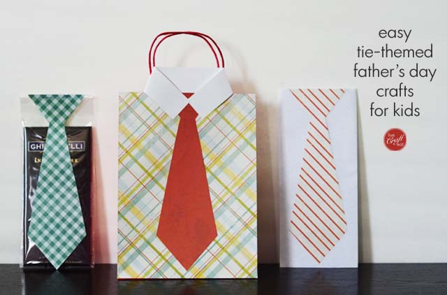 Easy Tie Themed Fathers Day Crafts Gifts For Kids