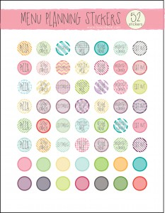 photograph about Free Printable Food Planner Stickers named Cost-free Weekly Menu Planner For The Finish Calendar year - Spiral