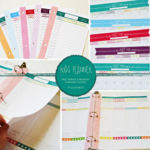daily, weekly, & monthly planners for kids