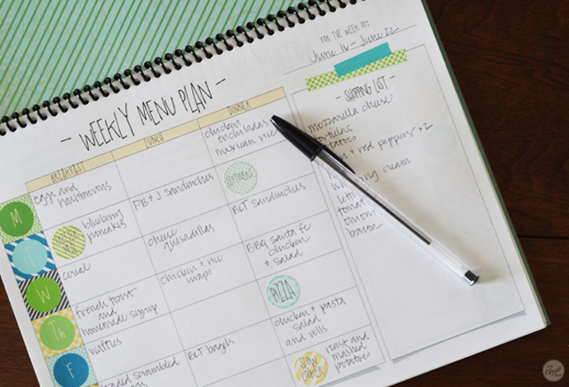 how to plan each and every meal for every day of the week. super simple!