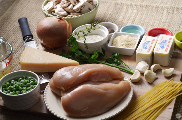 ingredients for chicken tetrazzini
