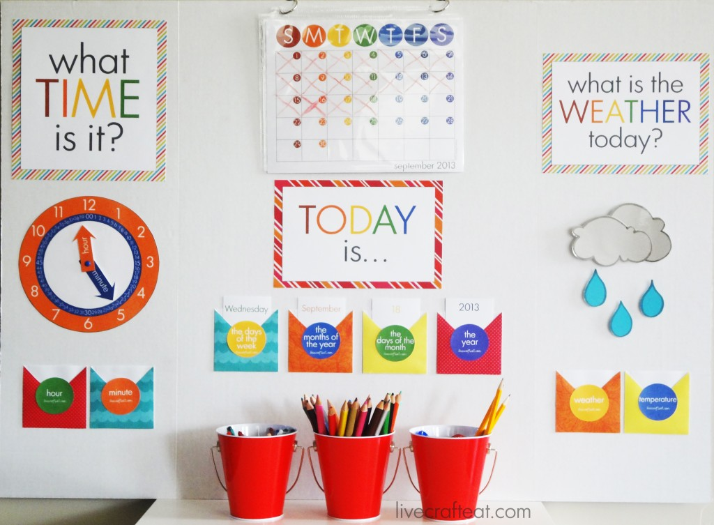 how to make a kids homework station