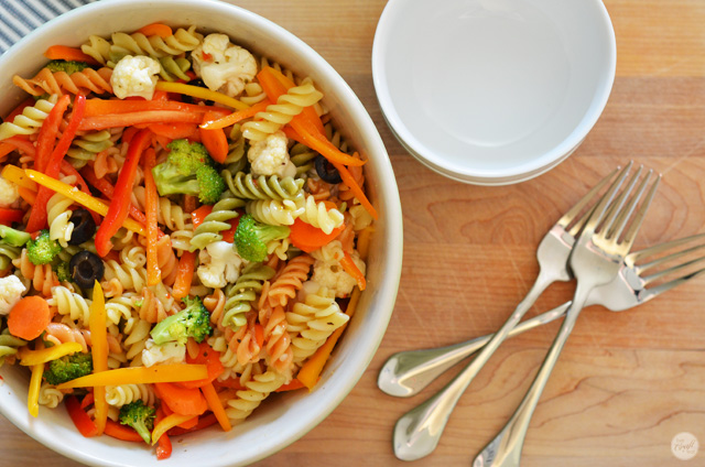 easy tri-color italian pasta salad recipe