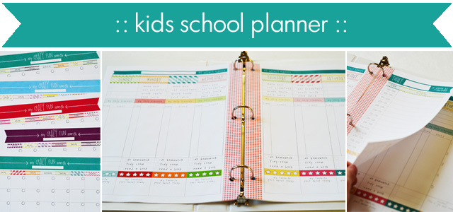 daily weekly monthly school planner calendar for kids lce