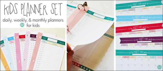 planners for kids