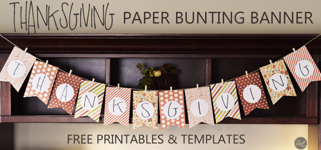 picture regarding Printable Banner Templates identified as Do-it-yourself Thanksgiving Decoration Young children Craft - Cost-free Printables LCE