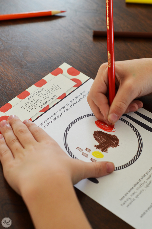 what's on my thanksgiving dinner plate? :: free printable activities for kids