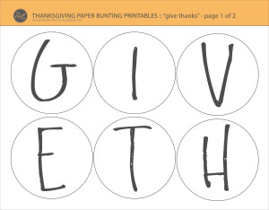 DIY Thanksgiving Decoration & Kids Craft - Free Printables | LCE