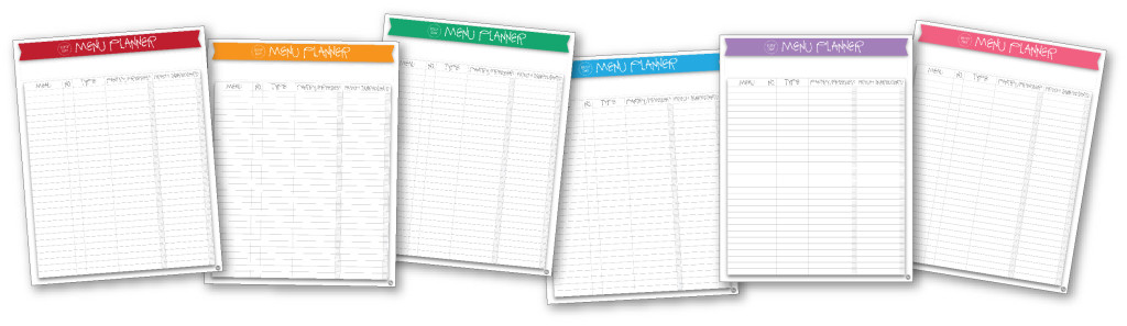 free printable busy-day menu planners