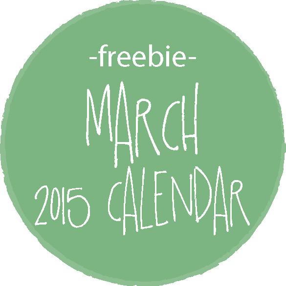 freebie march 2015 calendar