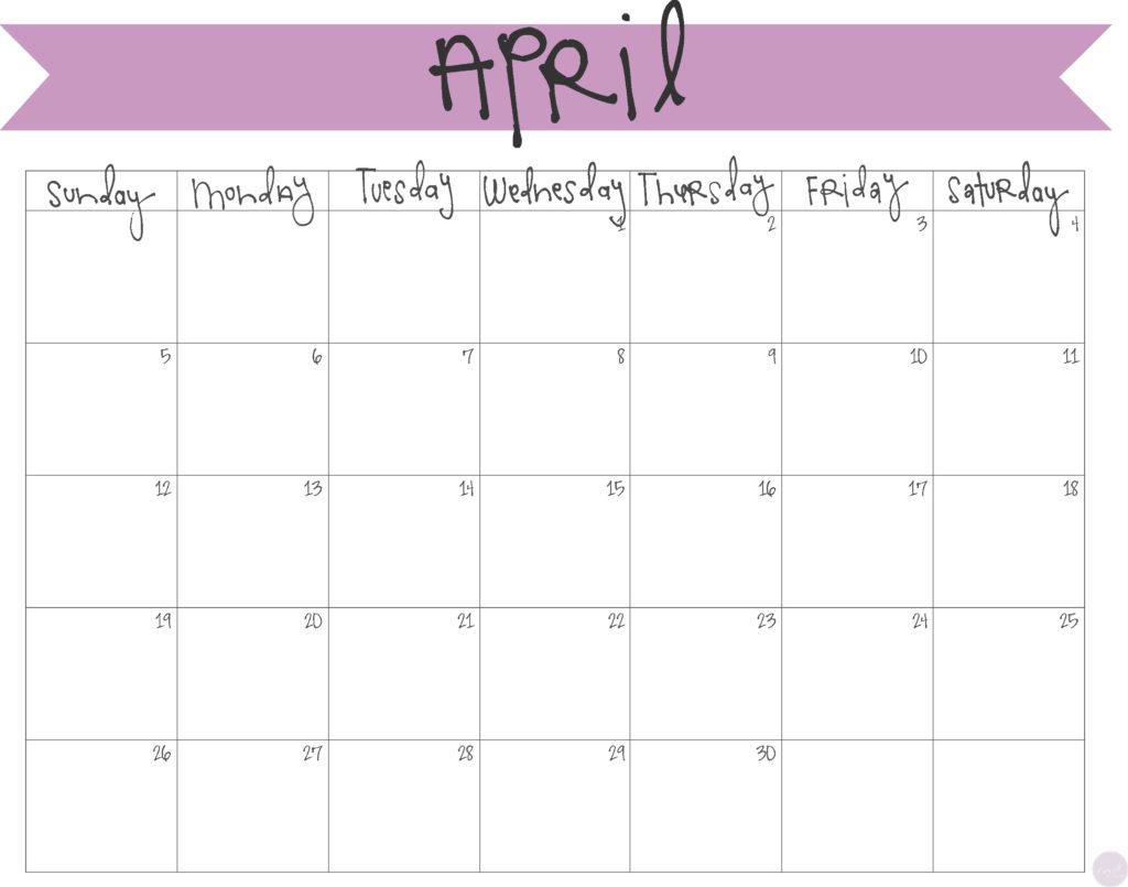 FREE PRINTABLE!! :: april 2015 calendar