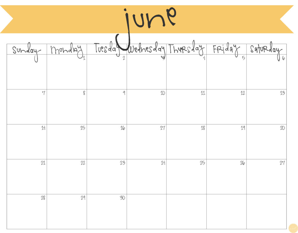 photo about Calendar June Printable known as June 2015 Calendar - Totally free Printable Stay Craft Consume