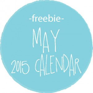 free printable calendar :: may 2015