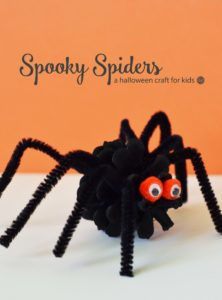 spooky spiders :: an easy pine cone halloween craft for kids