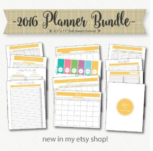 2016 printable planner bundle