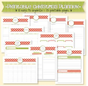 printable christmas planner, available on etsy, it getting me excited (and organized!) for christmas!