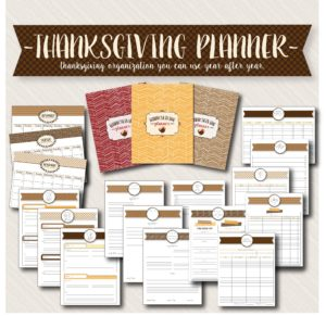 thanksgiving planner bundle, available on etsy, for a stress-free thanksgiving day.