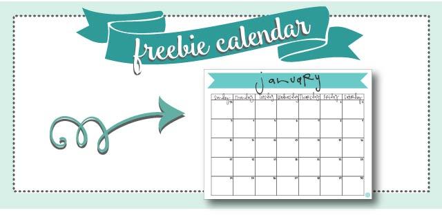 free printable january 2016 banner calendar