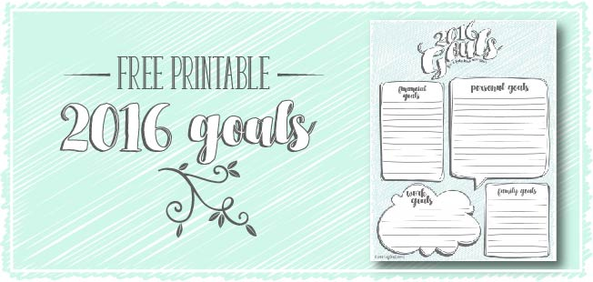 free printable! :: 2016 goals
